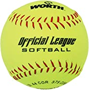 Worth 30cm Official League Slow Pitch Softball Red Stich YWCS12 .44 COR 375 COMP