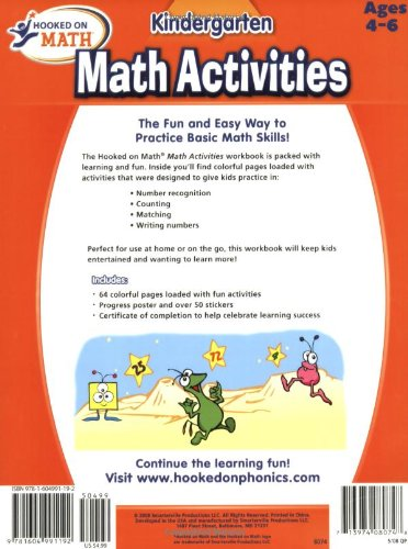 Hooked on Math Kindergarten Math Activities Workbook: Hooked On ...