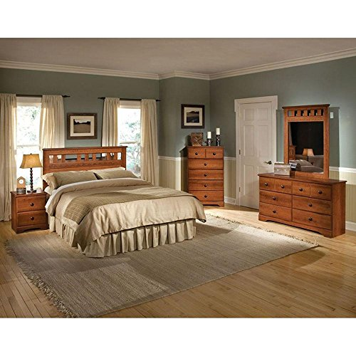 Cambridge Seasons Five Piece Suite: Queen Bed, Dresser, Mirror, Chest, Nightstand Bedroom Furniture Sets by Cambridge