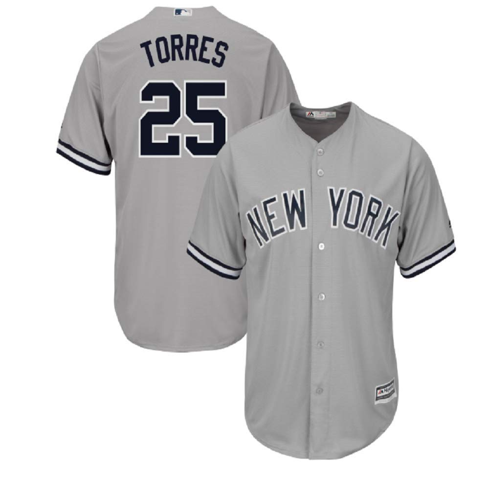 buy online f6b34 9b39c New York Yankees Jersey #25 Gleyber Torres Cool Base Player Jersey for Men  Women Youth