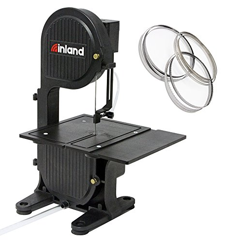 Inland Craft DB-100 Tabletop Band Saw Machine | Cuts Glass Stone Wood Metals Plastics | Includes THREE Band Saw Blades