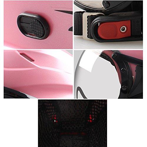 MERRYHE Unisexe Demi Casques Moto Flip Up Casque Hommes Moto Ouvert Visage Dur Double Lentille Dur Chapeaux Pour Dames Hommes Femmes