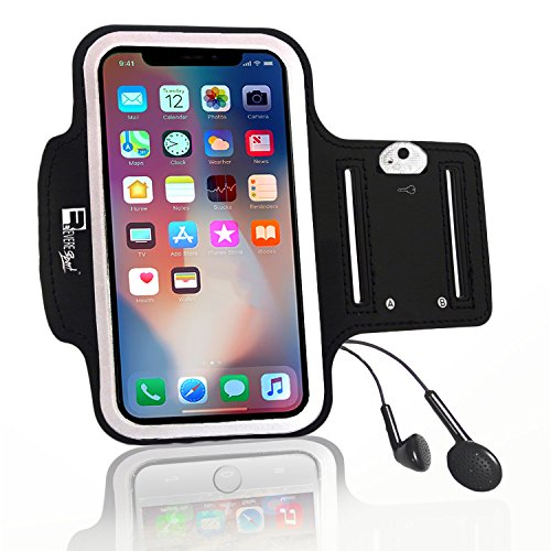 Premium iPhone X/10 Running Armband with Full Screen Access. Sports Phone Arm Case Holder for Jogging, Gym Workouts & Exercise by Revere Sport (Image #2)