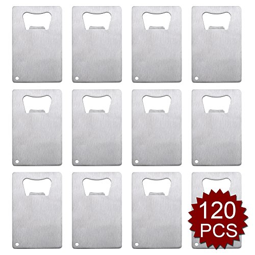 Aspire Credit Card Bottle Opener for Your Wallet Bulk Stainless Steel Bottle Opener Wholesale Lot-Silver-120 PCS