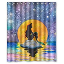 """The Little Mermaid Galaxy Shower Curtain 66"""" by 72"""""""