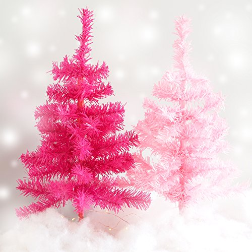 Plum and Punch Artificial Light Pink Holiday Miniature Christmas / Holiday Tree by Plum and Punch (Image #1)