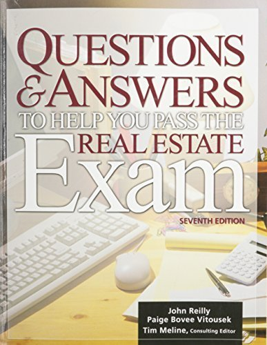 Questions & Answers to Help You Pass the Real Estate Exam by John Reilly (2005-04-28)