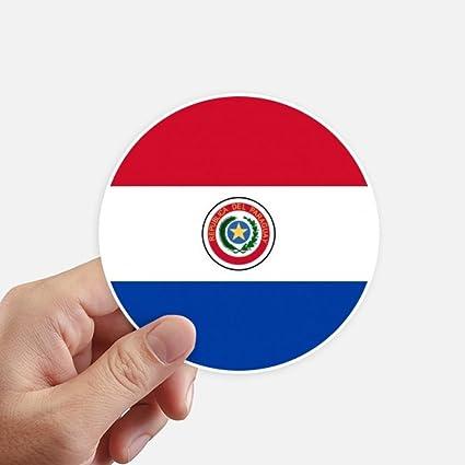 DIYthinker Paraguay Nacional de la Bandera de América del Sur País Redondas 10cm Pared Maleta portátil