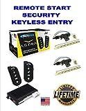 Car Alarm Security 2 After Market Door Locks, Keyless Entry 1-Way Fob Remote Start Scytek A4