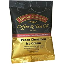 Door County Coffee 1.5oz Full-Pot Bags, Ground (Pecan Cinnamon Ice Cream, 1 Full-Pot Bag)