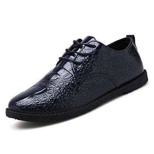 Rosso Scuro tinta Jiuyue Pelle Scarpe color da stringate uomo Uomo shoes unita 43 in pelle Blu pelle scamosciata in 2018 EU basse Dimensione pastello Color Scarpe 44wRzFAnq