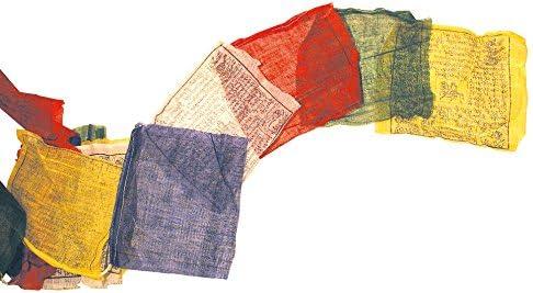 Saraswati Tibetische Gebetsfahne 20x20cm L/änge 5m 100/% Baumwolle Buddhistische Fahne