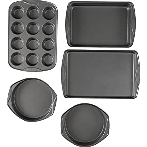 T-fal 84854 Signature Bakeware Set, Assorted, Gray