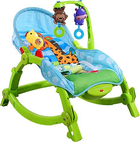 Babyschaukel Babywippe ARTI Edu Soft-Play 971 Green Giraffe Schaukel - Babyhochstuhl - Baby wippe - Schaukelwippe - Babyschaukel - Baby Bouncer