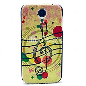 Music with Bubble Pattern Plastic Protective Back Cover for Samsung Galaxy S4 I9500