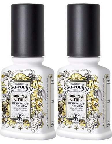Poo-Pourri Before-You-Go Toilet Spray Bottle, 2 oz, Original Scent, 2 Count from Poo-Pourri