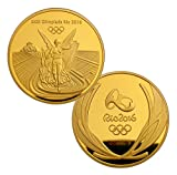 Rare Brazil Rio 2016 Olympic Winners Gold Medal Commemorative Coin Souvenir Token 40mm