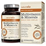 NatureWise Men's Whole Food Multivitamin Complex with Eye Support | Vitamins, Minerals & Organic Whole Foods (⬇ Watch Product Video in Images) + Lutemax 2020 to Protect & Improve Vision | 60 Ct For Sale