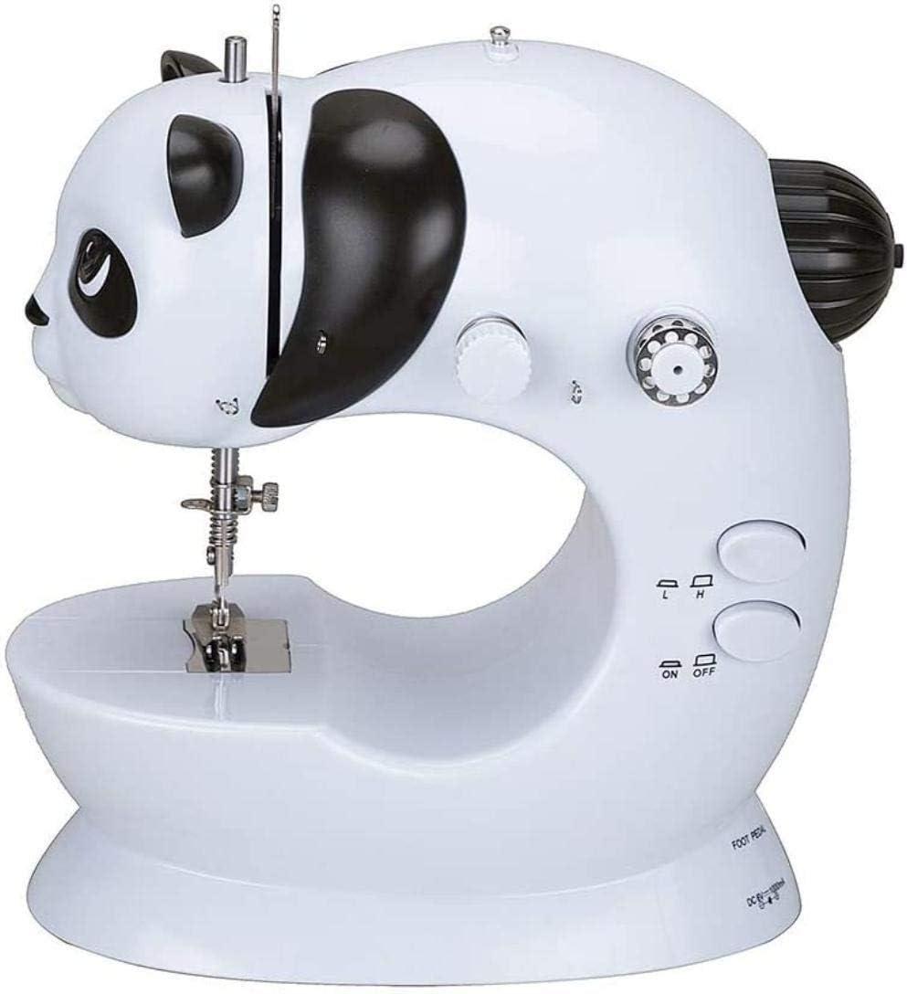 Cesto sucio Bolsa de Costura Mini máquina de Coser de Doble Velocidad eléctricos portátiles pie de la lámpara de iniciación de los niños Máquina de reparación