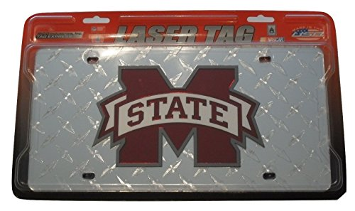 NCAA Mississippi State Bulldogs Deluxe Diamond Plate Laser Cut License -