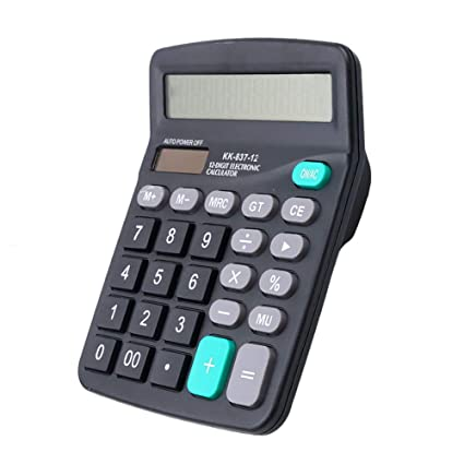 Digit - Calculadora de mesa (12 unidades, botones grandes, solar ...