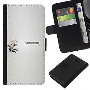 Leather Etui en cuir    Sony Xperia M2    Einstein Cita @XPTECH