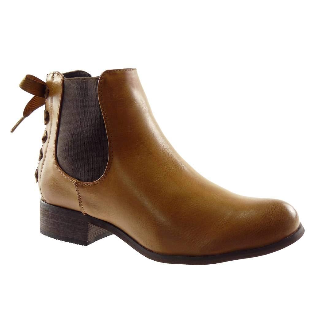 Angkorly B00AN72RGU Chaussure Mode Bottine Chelsea Boots Femme Mode cm Noeud Lacets Talon Bloc 3 cm - Intérieur Fourrée Camel 2 7878fba - boatplans.space