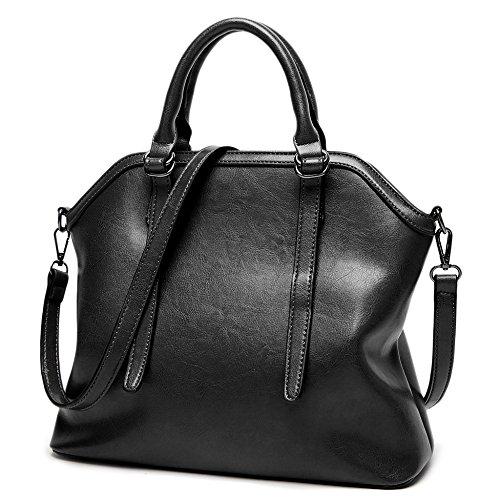 Cuir Shell Big Black Sac Main En Casual tout D'épaule Bag Bags Top Doux PU Femmes Sacs Fourre Vintage Dames à à poignée Bandoulière 4CFxOzwq