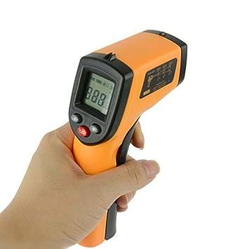 Mano Mini tipo Infrarrojo Láser Pistola de temperatura Sin contacto Termómetro industrial: Amazon.es: Deportes y aire libre