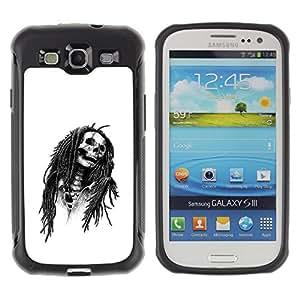 SHIMIN CAO@ Marley Rasta Skull Jamaica Singer Rugged Hybrid Armor Slim Protection Case Cover Shell For S3 Case ,I9300 Case Cover ,I9308 case ,Leather for S3 ,S3 Leather Cover Case