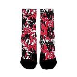 HoopSwagg Blazer Digital Camo Custom Elite Socks Large