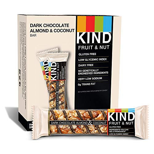 (KIND Bars, Dark Chocolate Almond Coconut, Gluten Free, 1.4 Ounce Bars, 12 Count)