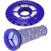 Amyehouse Hepa Post Filter & Pre Filter For Dyson DC41, DC65, DC66 Animal, Multi Floor and Ball Vacuums. Replaces Part # 920769-01 & 920640-01