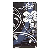 Acer Liquid Z410 Case , Leathlux Simple Flower Premium PU Leather Magnetic [Wallet Case] with Stand Function Card Slots Protective Skin Flip Case Cover for Acer Liquid Z410