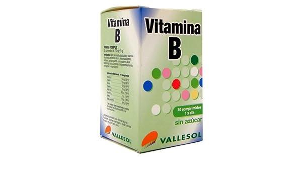 VALLESOL VITAMINA B COMPLEX 30 COMPRIMID: Amazon.es: Salud y cuidado personal