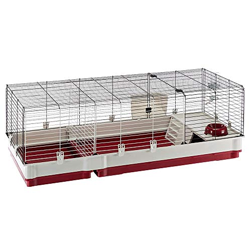 Ferplast Rabbit cage Krolik 140 Guinea Pigs and Small Animals House, in Assembly kit. Separable Extension Through…