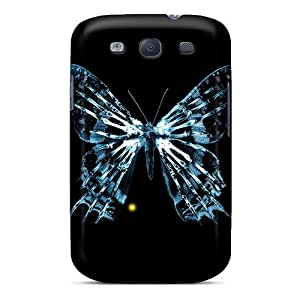 Tpu Fashionable Design Blue Butterfly Skeleton Rugged Case Cover For Galaxy S3 New