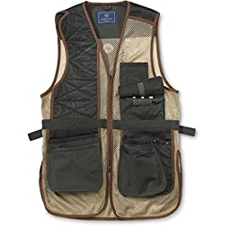 Beretta Men\'s Two Tone Clay Shooting Vest, Loden/Khaki, X-Large