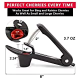 Cherry Pitter, Cherry Olive Pitter Remover Stoner Tool with Food-Grade Silicone Cup, Space-Saving Lock Design and Lengthened Splatter Shield Dishwasher Safe by Hoomoi
