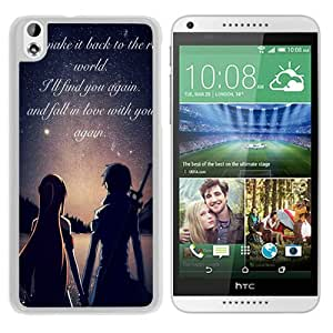 Personalized HTC Desire 816 With Sword Art Online White Customized Photo Design HTC Desire 816 Phone Case