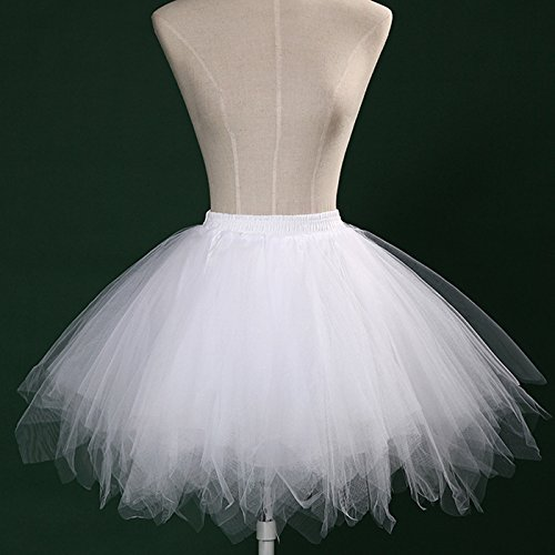 12f5ac6111 outlet Feoya Falda Plisada Corta de Tul Princesas Danza Ballet Tutú Tutu  Skirt para Mujer