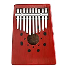 Neewer 10 Keys Birch Finger Thumb Piano Mbira, Portable 17x12.8x2.9 centimeters/6.7x 5.0x1.1 inches, Education Toy Musical Instrument for Music Lover (Red)