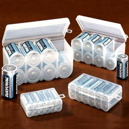 & Amazon.com: Set of 4 Battery Storage Boxes: Health u0026 Personal Care