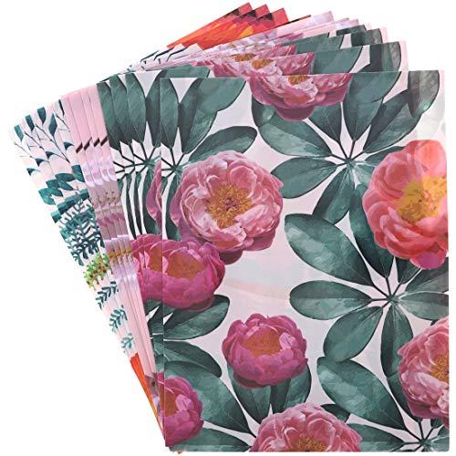 Blue Panda Floral Pocket Folders for Students (12 Pack, Flowers)]()