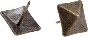 uxcell Upholstery Nails Tacks 18mm Square Head Antique Furniture Nails Pins Bronze Tone 40 Pcs