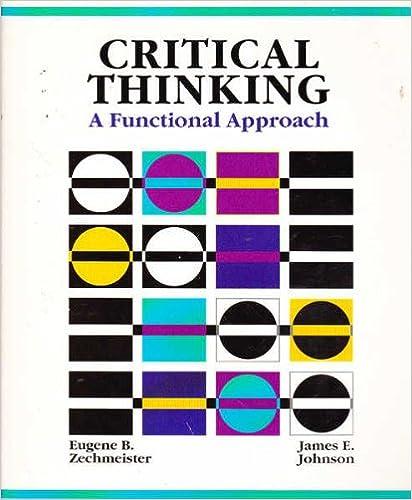 critical thinking zechmeister