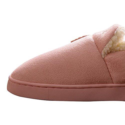 Couleur Chaussures YASHANG Pantoufles Antidérapante Accueil 2 Femme Unie Coton Hiver Couple En Chaleur EE0r6xq