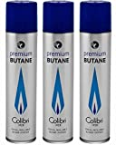 Colibri Premium Butane Fuel Refill for Lighter 3 Small Cans