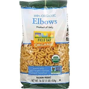 Field Day Organic Elbow Macaroni 16 oz. (Pack of 12)