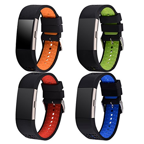 Fitbit Charge 2 Band Silicone Replacement Strap with Classic Buckle and Massage Tablets Small/Medium – DiZiSports Store